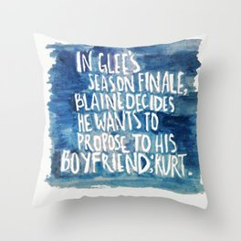 klaine stan 4eva Throw Pillow