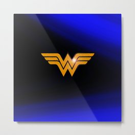 WonderWoman emblem insígnia Wonder Gold, Diana Prince, warrior princess of the Amazons Metal Print