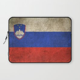 Old and Worn Distressed Vintage Flag of Slovenia Laptop Sleeve