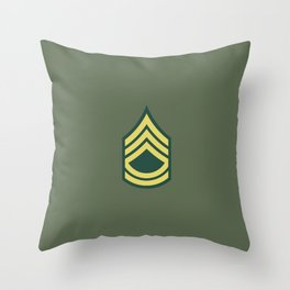 Sergeant First Class (OD Green) Throw Pillow