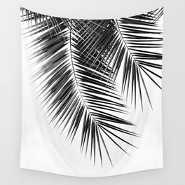 Black Palm Leaves Dream - Cali Summer Vibes #2 #tropical #decor #art #society6 Wall Tapestry