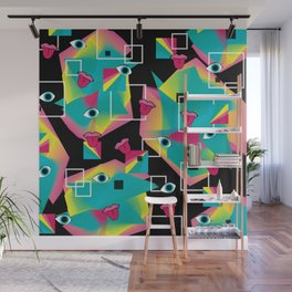 Rainbow Pop Wall Mural