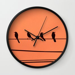 Singing in the Dead of Night Wall Clock
