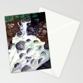 River along the Forest Stationery Cards
