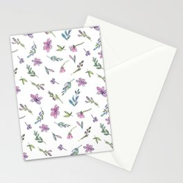 Bright Happy Watercolor & Ink Flowers Stationery Cards
