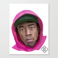 tyler the creator Canvas Prints featuring Tyler the Creator by SELS - Sebastian Emilio Luna Sevilla