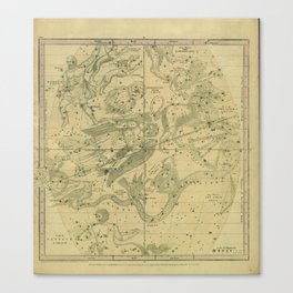 Atlas, Designed to Illustrate the Geography of the Heavens, plate IV (1850) Canvas Print