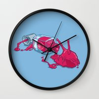 nail polish Wall Clocks featuring It's nail polish by ElinJ