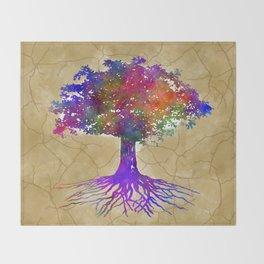 Tree Of Life Batik Print Throw Blanket