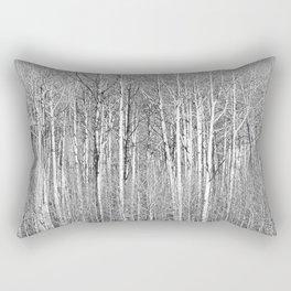 Wallof Aspen Trees Rectangular Pillow