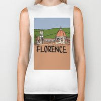 florence Biker Tanks featuring Florence by Logan_J