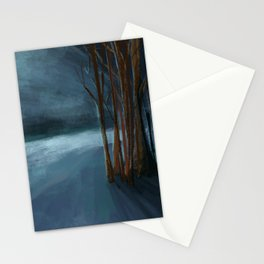 Endless Night Landscape Stationery Cards