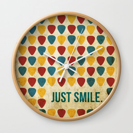 Just Smile. Wall Clock