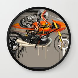 Braking point Wall Clock