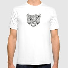 Bear 1  SMALL White Mens Fitted Tee
