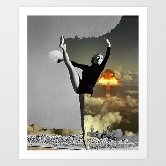Danced out of existance Art Print