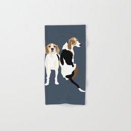 Gracie and Greta tree walker coonhounds Hand & Bath Towel
