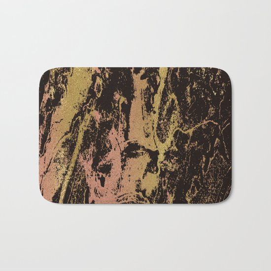 Rose gold & gold marbled Bath Mat
