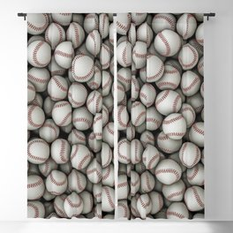 Baseballs Blackout Curtain