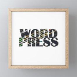 WORD PRESS Framed Mini Art Print