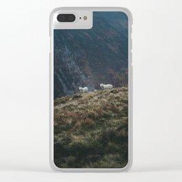 Sheep Walk Clear iPhone Case
