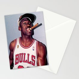 Michael Jorda-n Smoking Cigar shirt Stationery Cards
