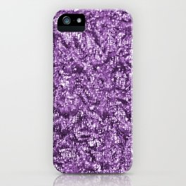 Violet Glitter Abstract PrintViolet Glitter Abstract Print iPhone Case