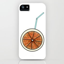 bright orange and cocktail straw . (  view:  https://society6.com/totalflora/collection ) iPhone Case