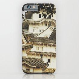 White Heron Castle iPhone Case