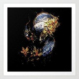 Venetian Mask Blue Devil Art Print