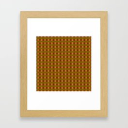 Interlaced circles # 2 in red, ocher and orange Framed Art Print