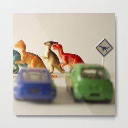 Dinosaurs crossing Metal Print