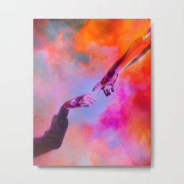 La Création d'Adam - Dorian Legret x AEFORIA Metal Print
