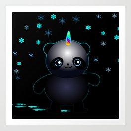 Glow in the Dark Pandacorn Art Print