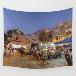 Istanbul At Night Wall Tapestry