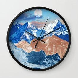 Creamy mountains Wall Clock