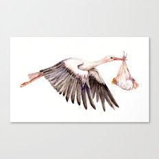Baby on Bird Canvas Print
