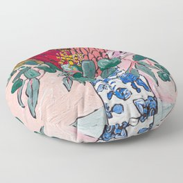 Australian Native Bouquet of Flowers after Matisse Floor Pillow