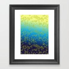 Cor∆lTextureGr∆dient Framed Art Print
