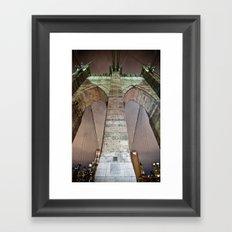 The bridge. Framed Art Print