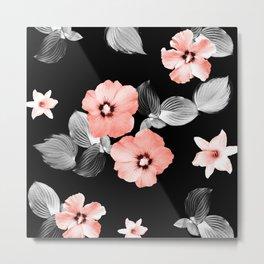 Living Coral Floral Dream #1 #flower #pattern #decor #art #society6 Metal Print