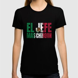 Cholo Dad Mexican Hispanic Boss Gift El Jefe Mas Chingon T-Shirt T-shirt