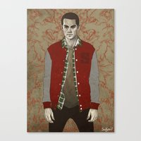 stiles Canvas Prints featuring Stiles Alpha by Sudjino