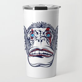 Looking For A Unique Detailed Monkey T-shirt? This One Is The Perfect Tee For You A Mad Monkey Travel Mug