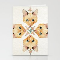 kitten Stationery Cards featuring kitten by Manoou