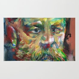SIGMUND FREUD - watercolor portrait.2 Rug