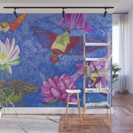 Hummingbird Moth and Frog Wall Mural