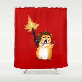 Hamster Rambo - by Rui Guerreiro Shower Curtain