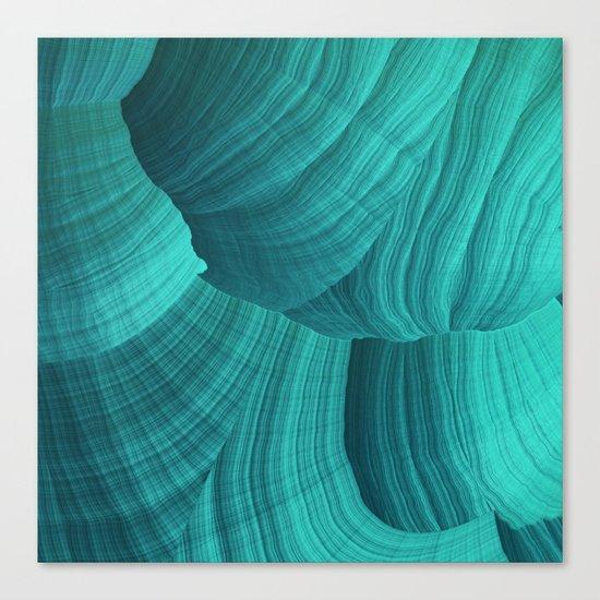 Turquoise Sediment Canvas Print