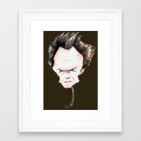 clint eastwood Framed Art Prints featuring Clint Eastwood by Diego Abelenda
